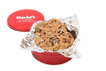 Davidu0027s Cookies Chocolate Chunk Fresh Baked Cookies 1 Lb. Gift Tin