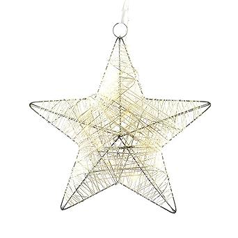 Weihnachtsdeko Led Stern.Nipach Gmbh 10 Led Stern In Rattanoptik Leuchtfarbe Warm Weiß