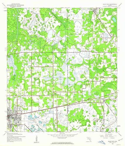 Plant City Florida Map.Amazon Com Yellowmaps Plant City Fl Topo Map 1 24000 Scale 7 5 X