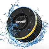 Donerton Bluetooth Shower Speaker, IPX7 Waterproof Wireless Speaker with Suction Cup, Portable Speaker, 360 HD Surround…