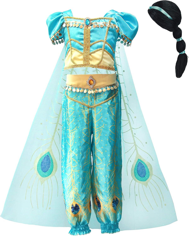 Lito Angels Girls Princess Costumes Birthday Green Cheap Halloween Fan Free Shipping New