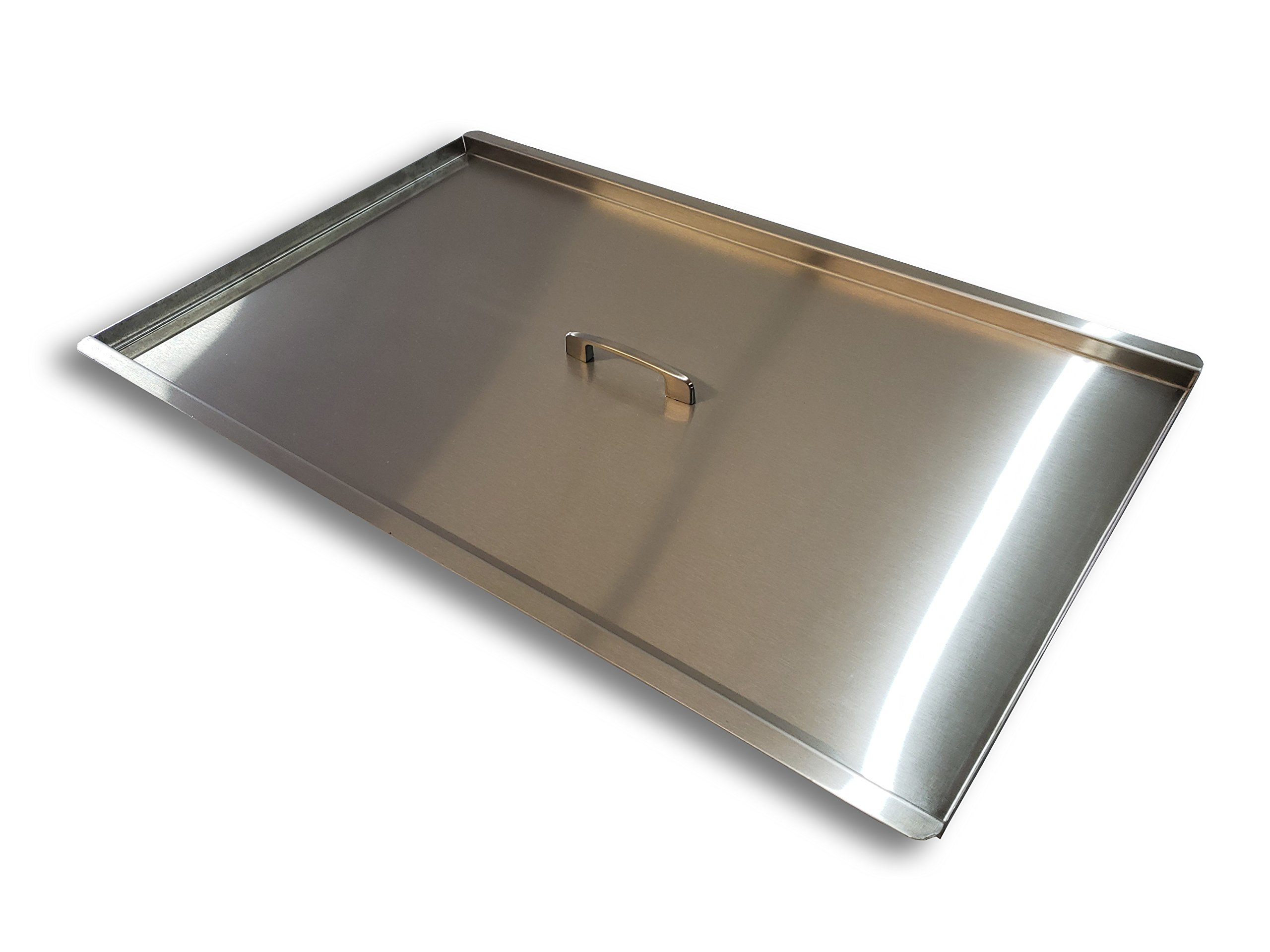 Commercial Fryer Cover for 40lb and 50lb fryers - Stainless Steel - Food Truck