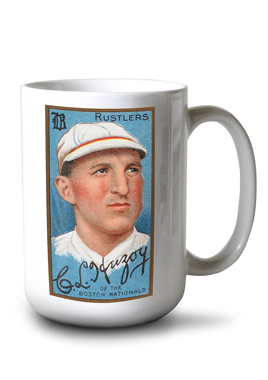 ボストンRustlers – チャールズL。Herzog – 野球カード 15oz Mug LANT-3P-15OZ-WHT-21844 15oz Mug  B077RYQTQM