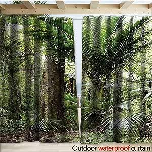 warmfamily - Cortinas para pérgola (108 x 96 cm), diseño de pinos, Color Verde y Morado: Amazon.es: Jardín