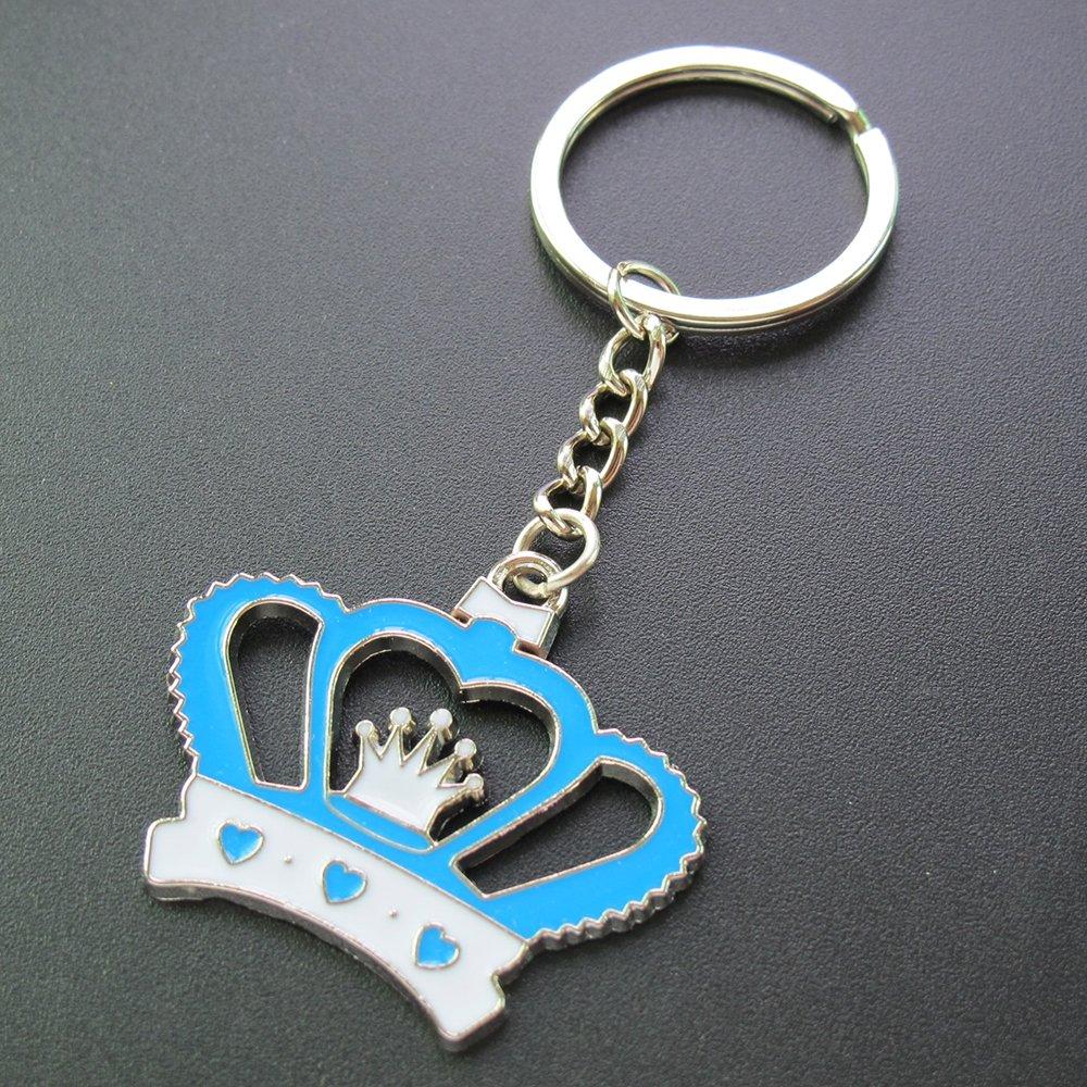 Amazon.com: Corona Llavero Baby Boy ducha favor Azul 12pcs ...