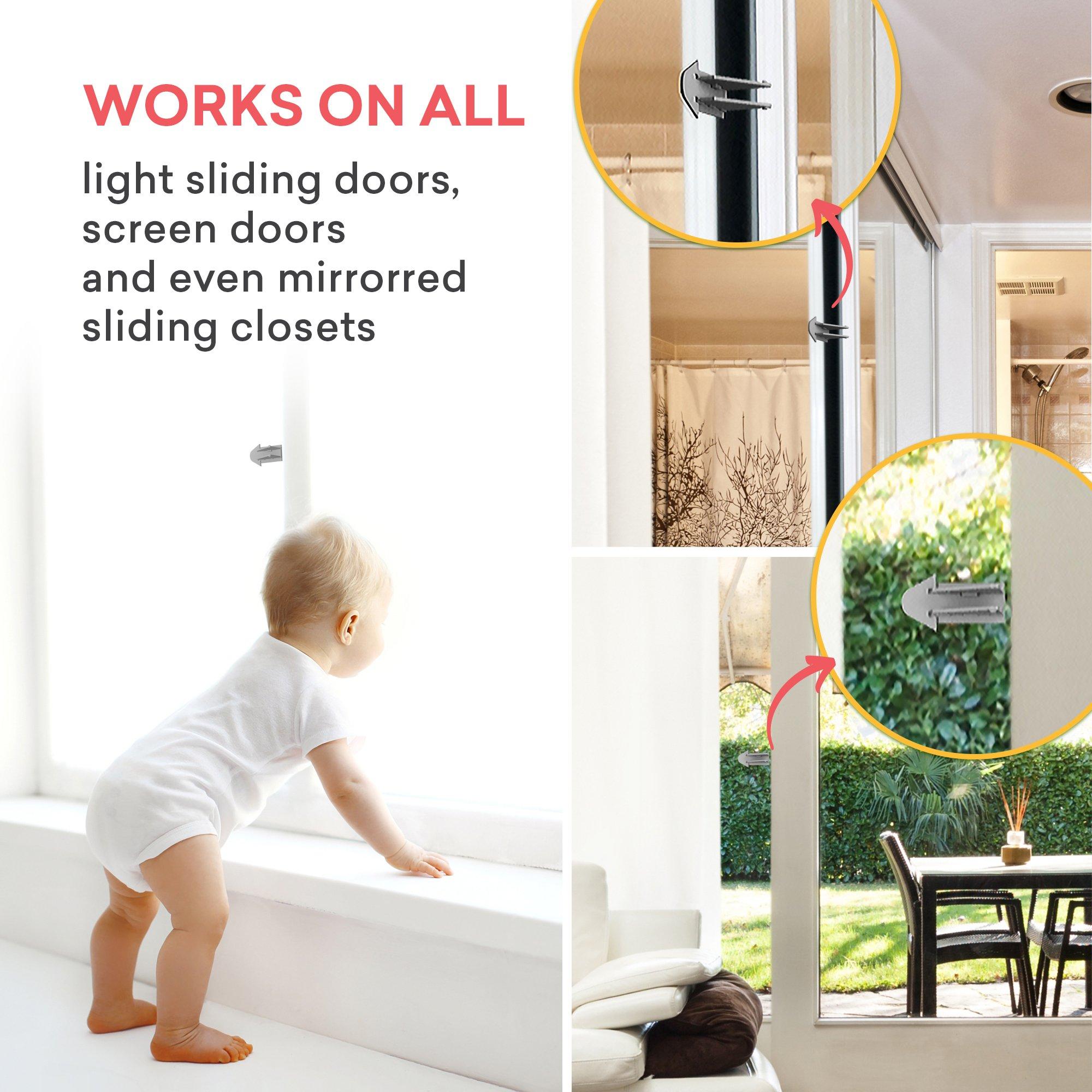 3m Adhesive Sliding Door Lock For Patio Closet Windows Rv Baby