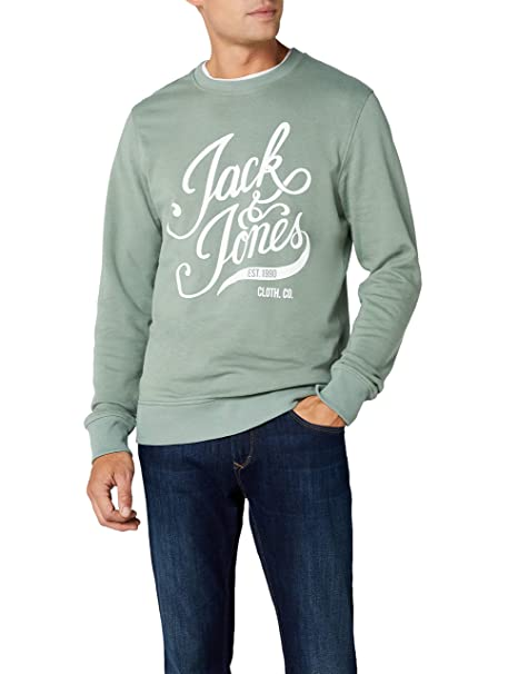 JACK & JONES Jorblog Sweat Crew Neck, Sudadera para Hombre, Verde (Chinois Green