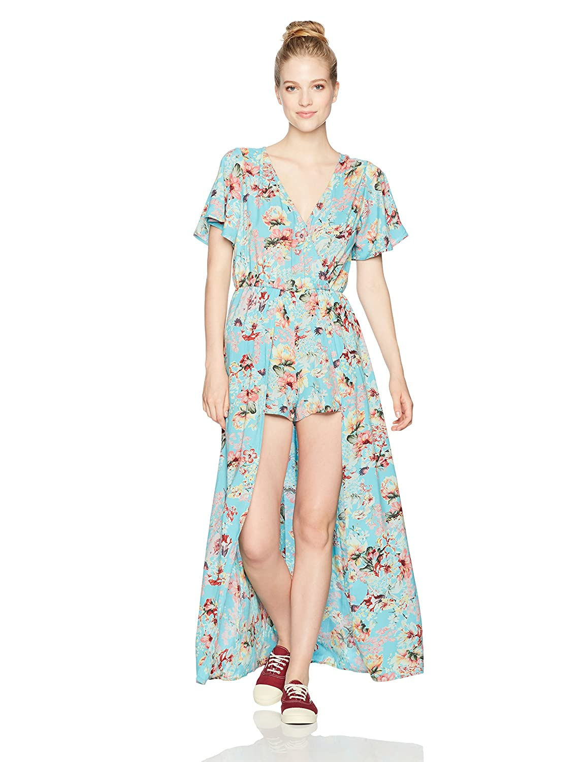 Angie Women\'s Blue Printed Maxi Romper with Surplus Angie Juniors B5482-A389