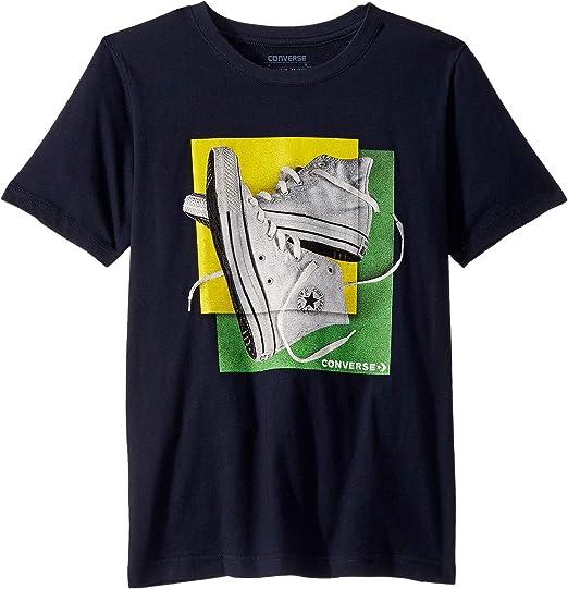 Converse Kids Boys Sneaker Squares Tee (Big Kids): Amazon.es ...