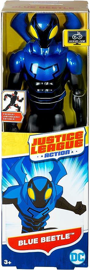 Amazon Com Mattel Justice League Action Blue Beetle Figure Toys Games