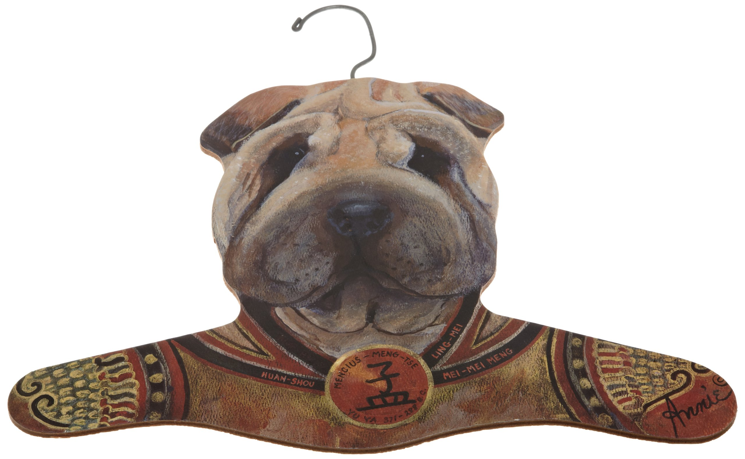 The Stupell Home Decor Collection Sharpei Wearing Samurai Jacket Hanger