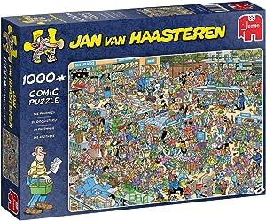 Jumbo 19199 Jan Van Haasteren-The Pharmacy 1000 Piece Jigsaw Puzzle, Multi