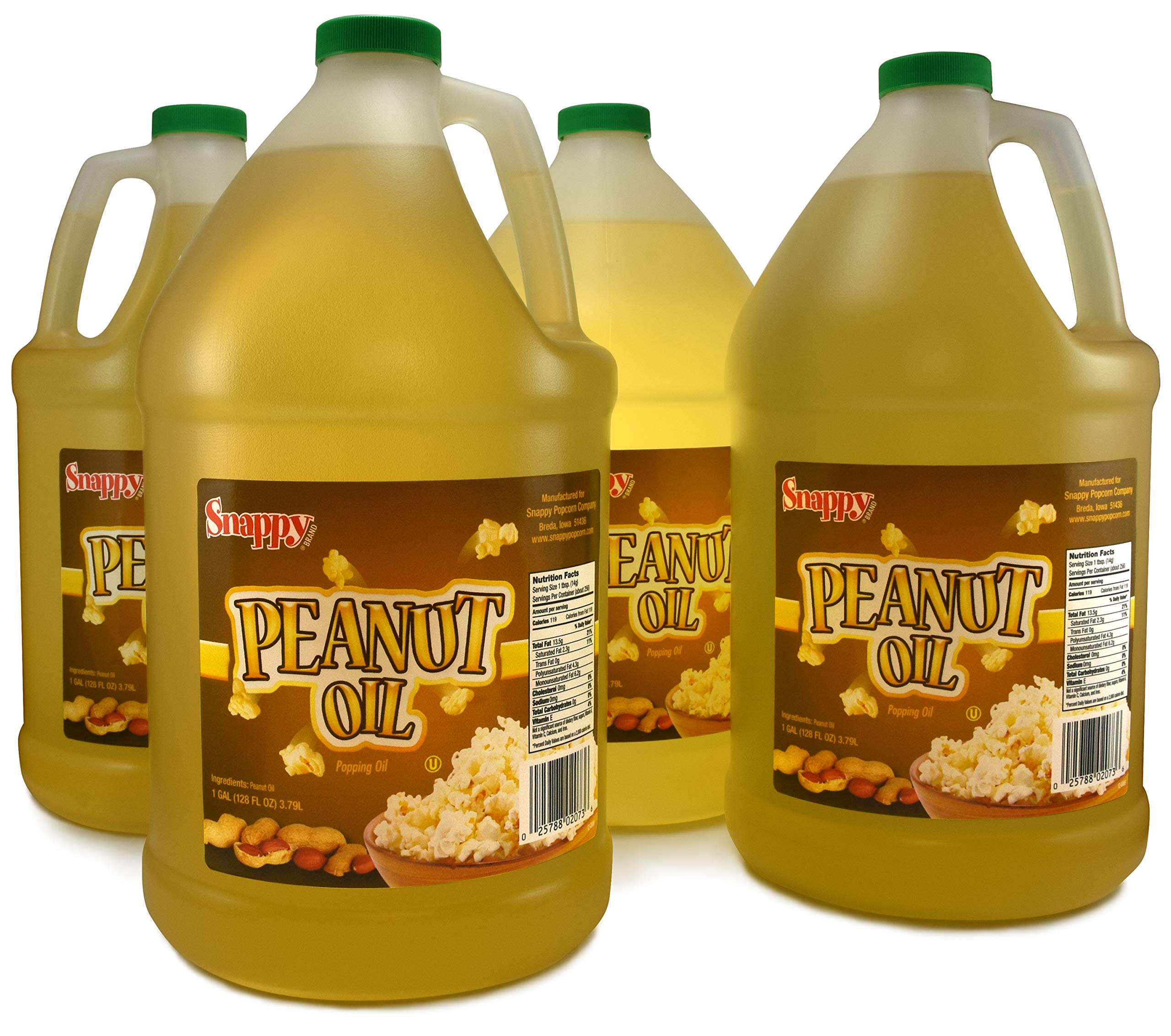 Snappy Pure Peanut Oil - No Color Added (4-1 Gallon) by SNAPPY