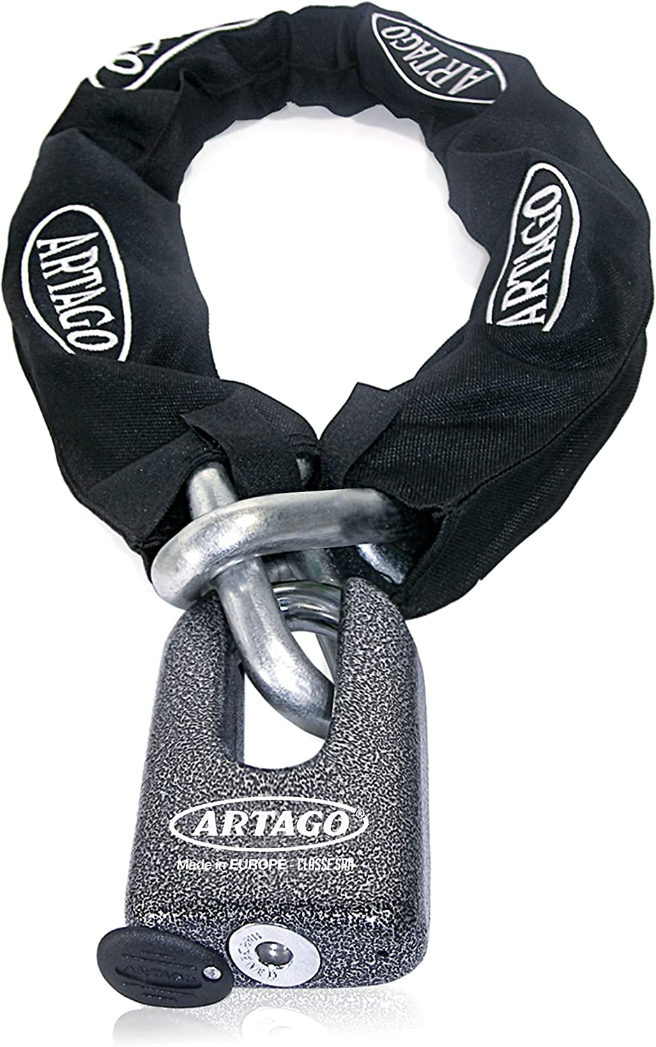 Diameter 14.5 100 cm Artago 69T100 Chain Anti-Theft Maximum Security Double Function Approved SRA Sold Secure Gold