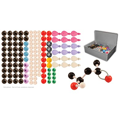 University Chemistry Co. Molecular Model Kit for Organic and Inorganic Chemistry, Teacher Set, 115 Atoms and 140 Bonds, 273 Pieces