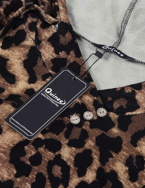 Quinee Womens Long Sleeve Plaid Colorblock Nursing Pullover Hoodie Sweatshirts