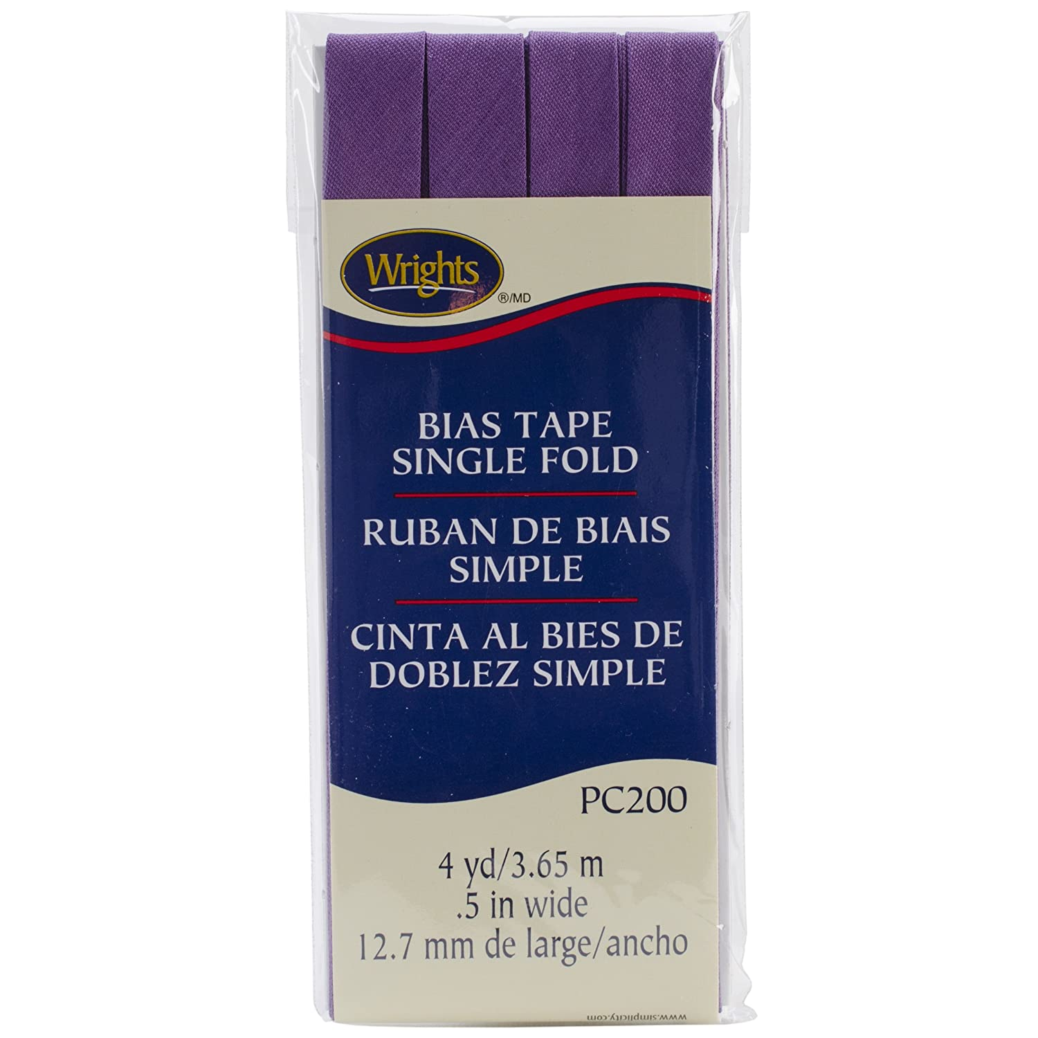 4 yd Wright Products 117-200-051 Wrights Single Fold Bias Tape Lavender