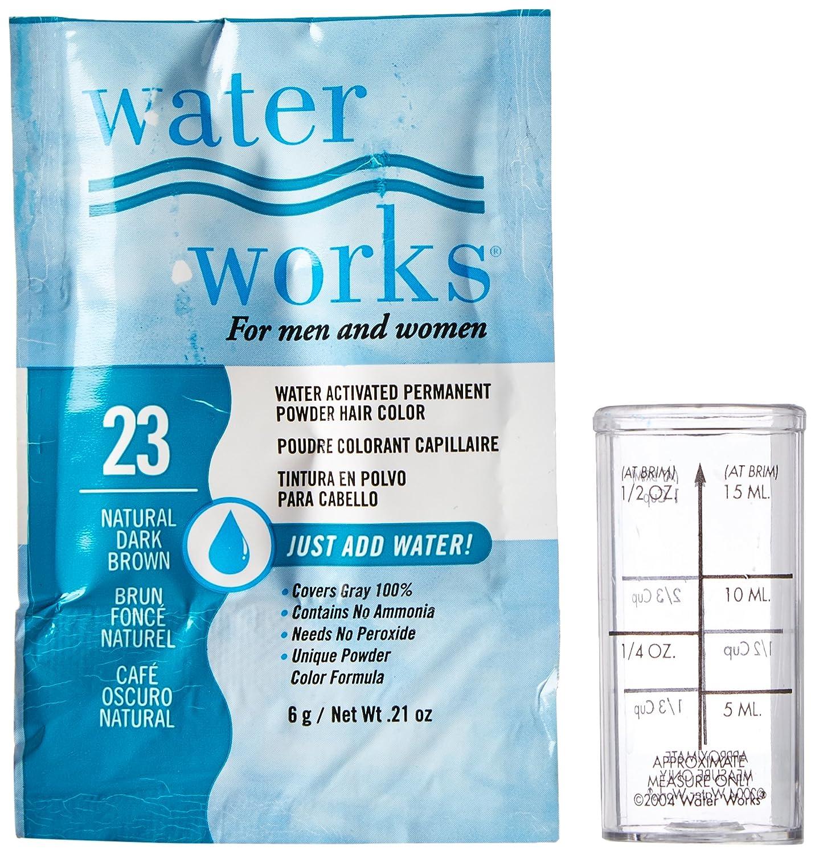Waterworks Permanent Powder Hair Color 23 Natural Dark Bigen Speedy 2 X 30gr Brown Chemical Dyes Beauty