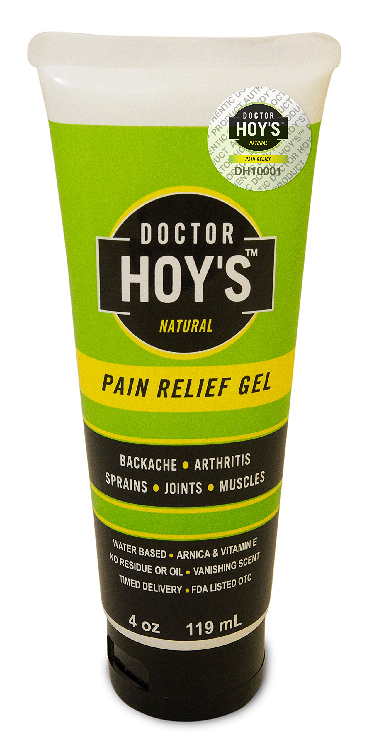 Doctor Hoy's W543704 Natural Pain Relief Gel, 4-Ounce