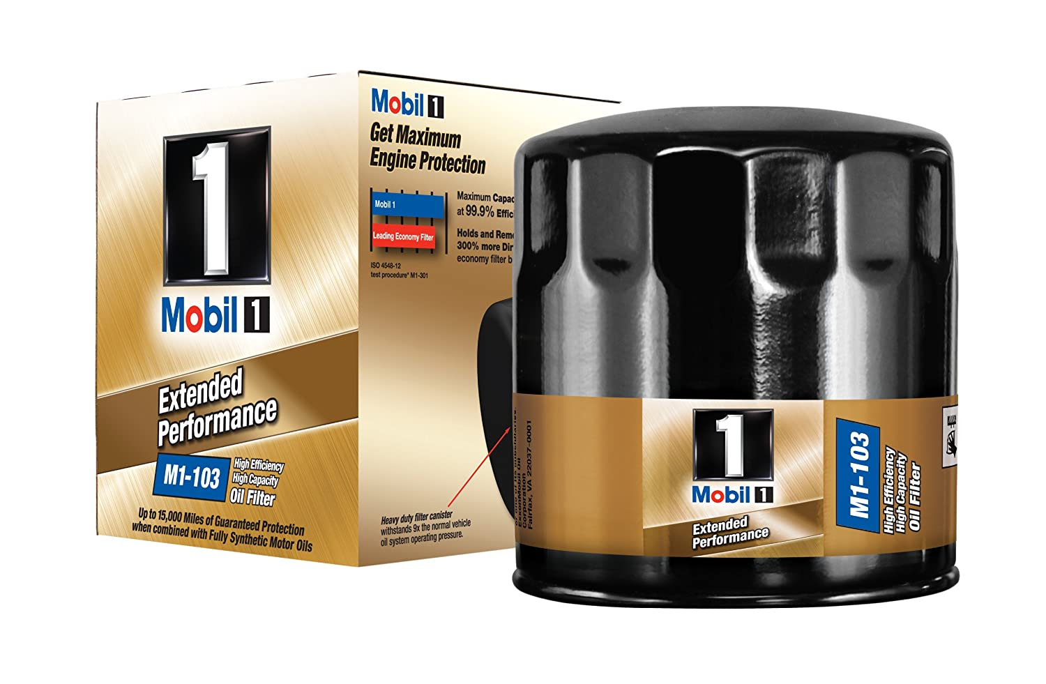 Mobil 1 M1 103 Extended Performance Oil Filter Pack Of 1997 Toyota Camry Fuel Location 2 Automotive