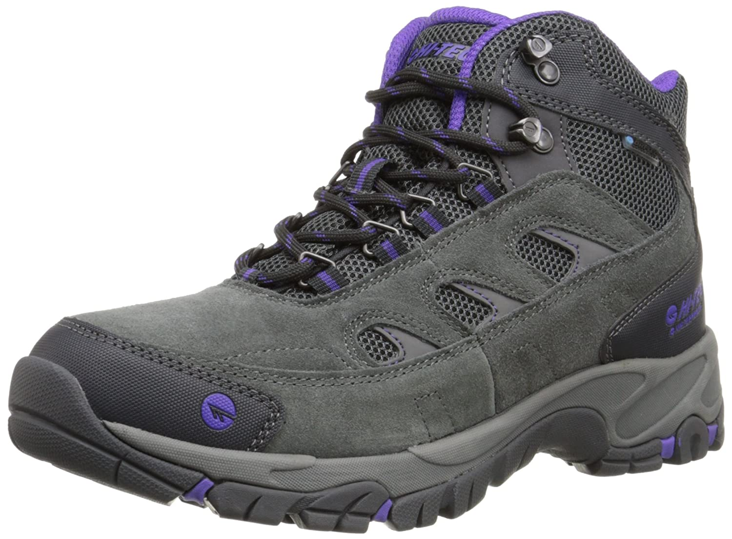Charcoal Purple Hi-Tec Women's Wn Logan Mid Waterproof Hiking Boot