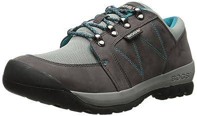 Bogs Women's Bend Low Hiking Shoe, Pewter, ...