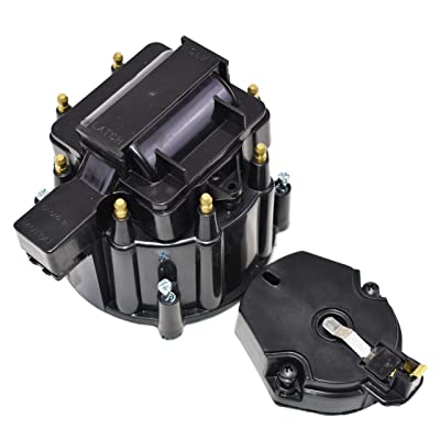 A-Team Performance CR6951BK 8-cylinder HEI OEM Distributor Cap, Rotor and Coil Cover Kit Black: Automotive