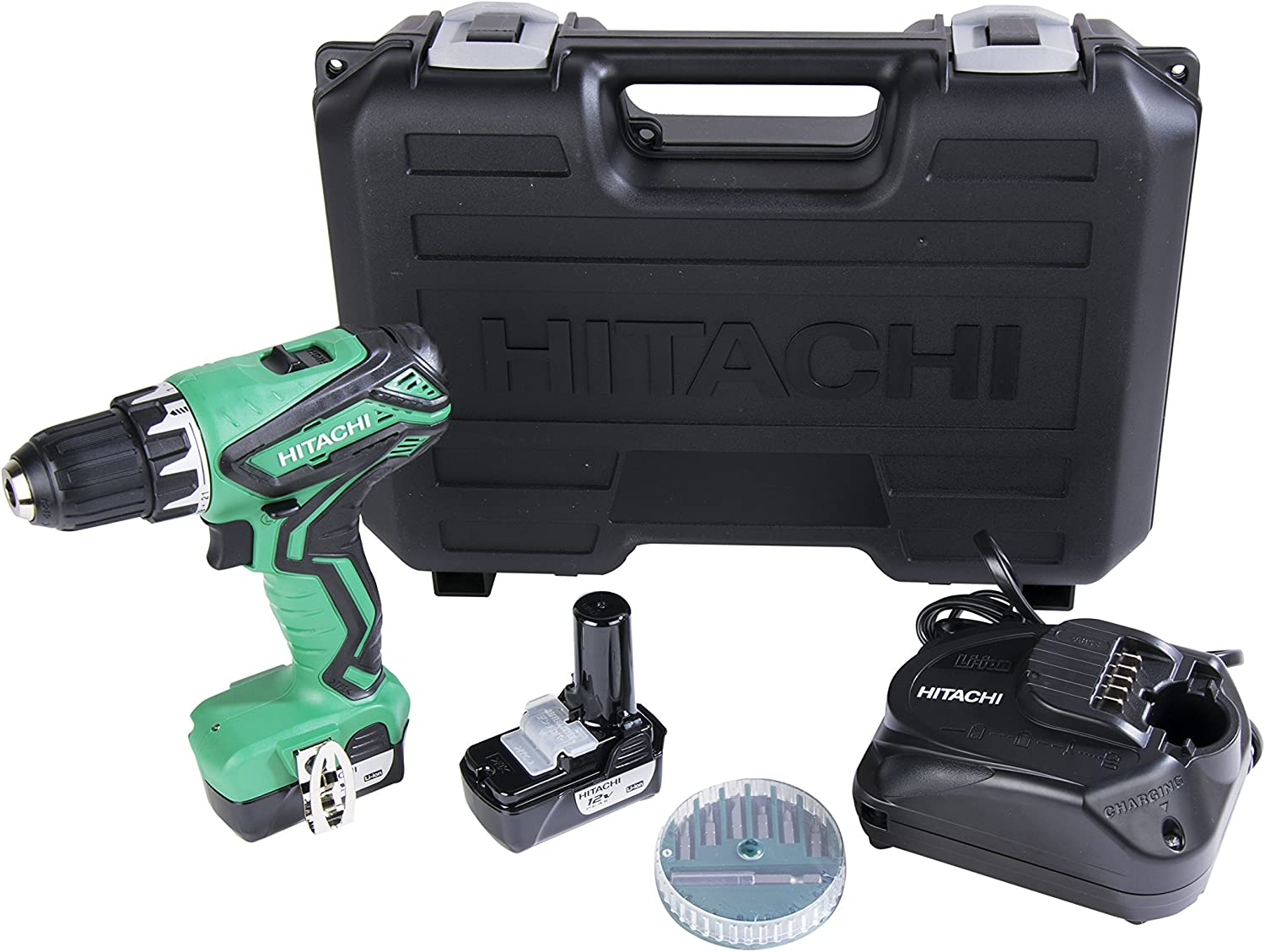 Hitachi DS10DFL2 12-Volt Peak Cordless Lithium Ion Compact Drill Driver Kit Lifetime Tool Warranty