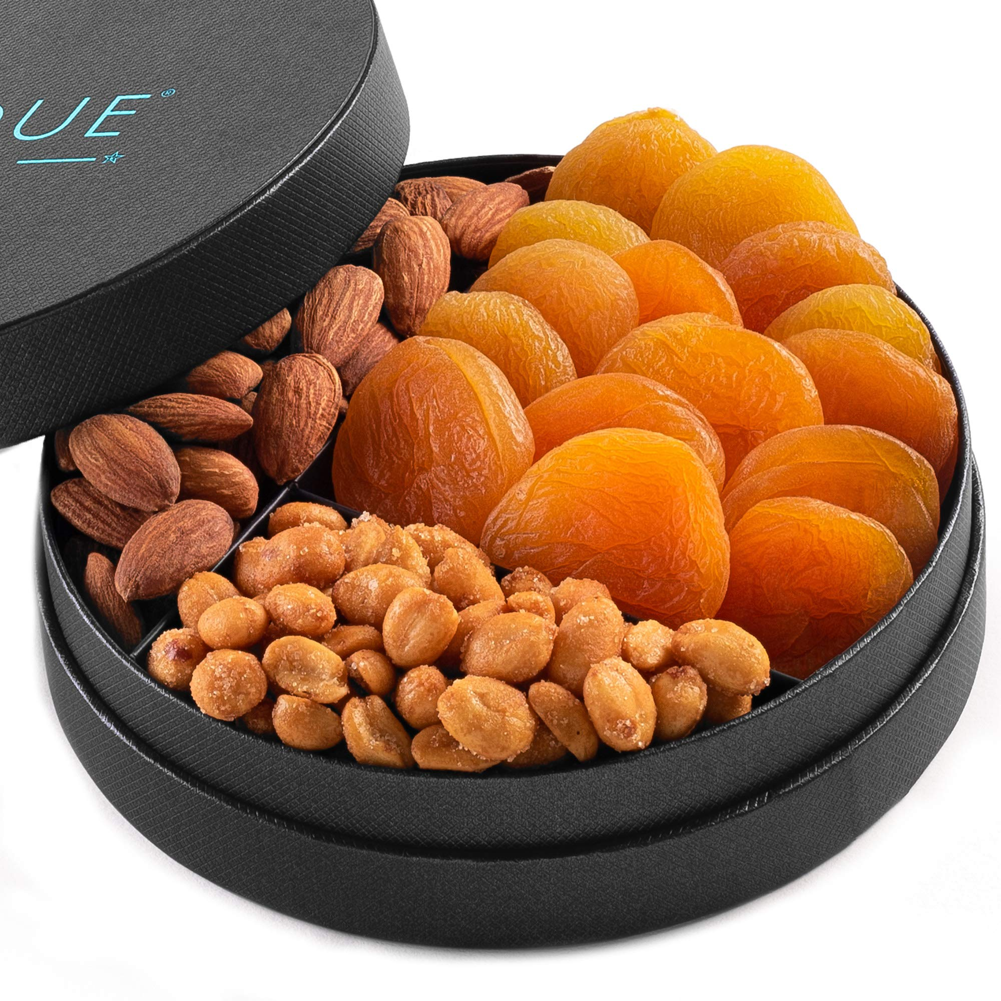 Gourmet Nut and Dried Fruit Gift Tray - 6'', Freshly Roasted Assorted Nuts & Dried Fruit for Mothers Day, Fathers Day, Holiday and Corporate Gifting