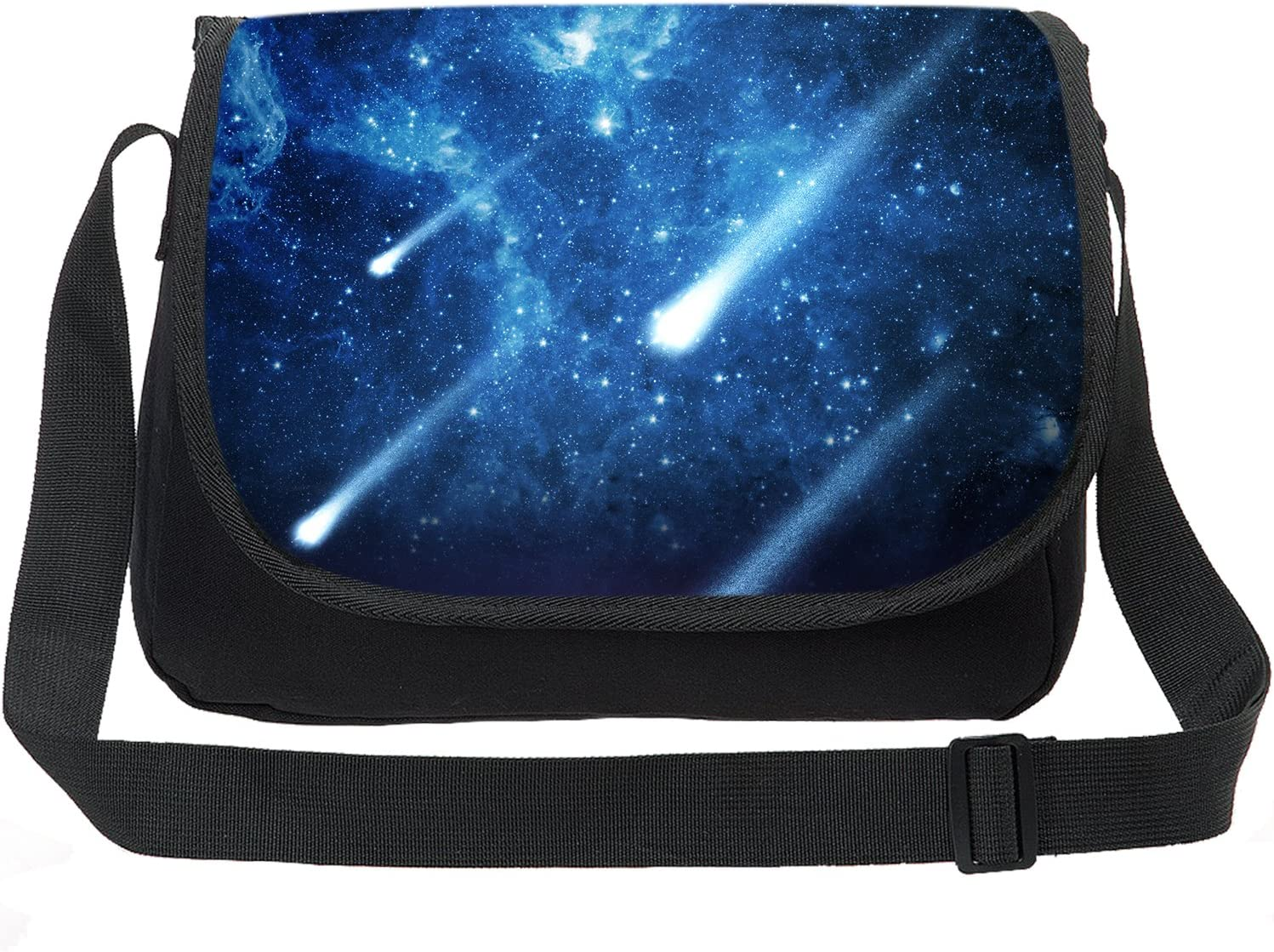 Black Universe Pattern Canvas Card Wallet With Zipper For Women Womens Fashion Purse