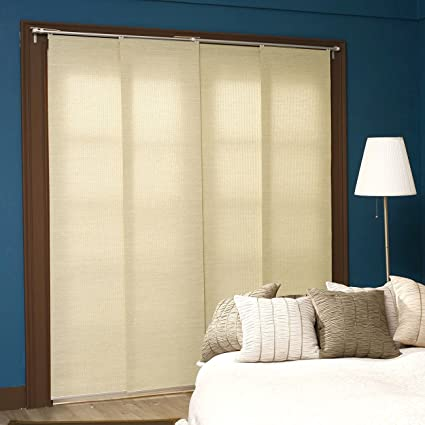 Chicology Adjustable Sliding Panels, Cut To Length Vertical Blinds, French  Primrose (Natural Woven