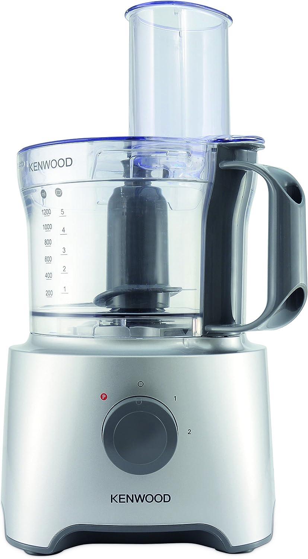 Kenwood fdp302si Multipro Compact Procesador de cocina, 800 W, 2.1 L, Plateado: Amazon.es: Hogar