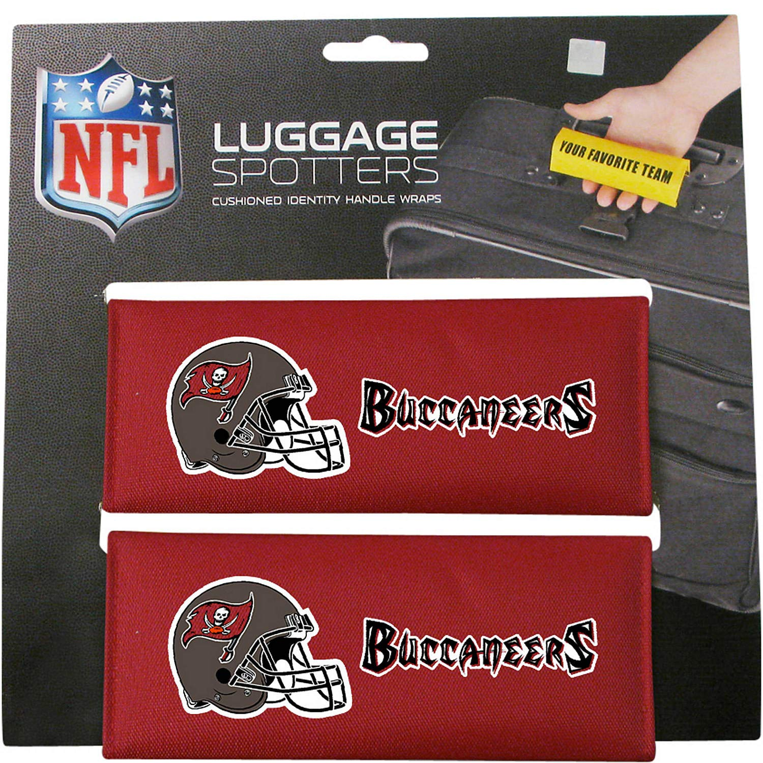 50% OFF! BUCS Luggage Spotter Suitcase Handle Wrap Bag Tag Locator with I.D. Pocket - CLOSEOUT! ALMOST GONE! by Luggage Spotter