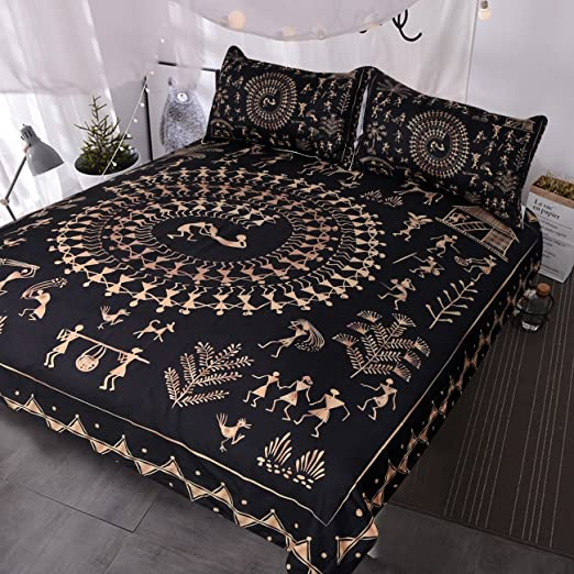 Amazon Com Blessliving Egyptian Black And Gold Bedding Sets