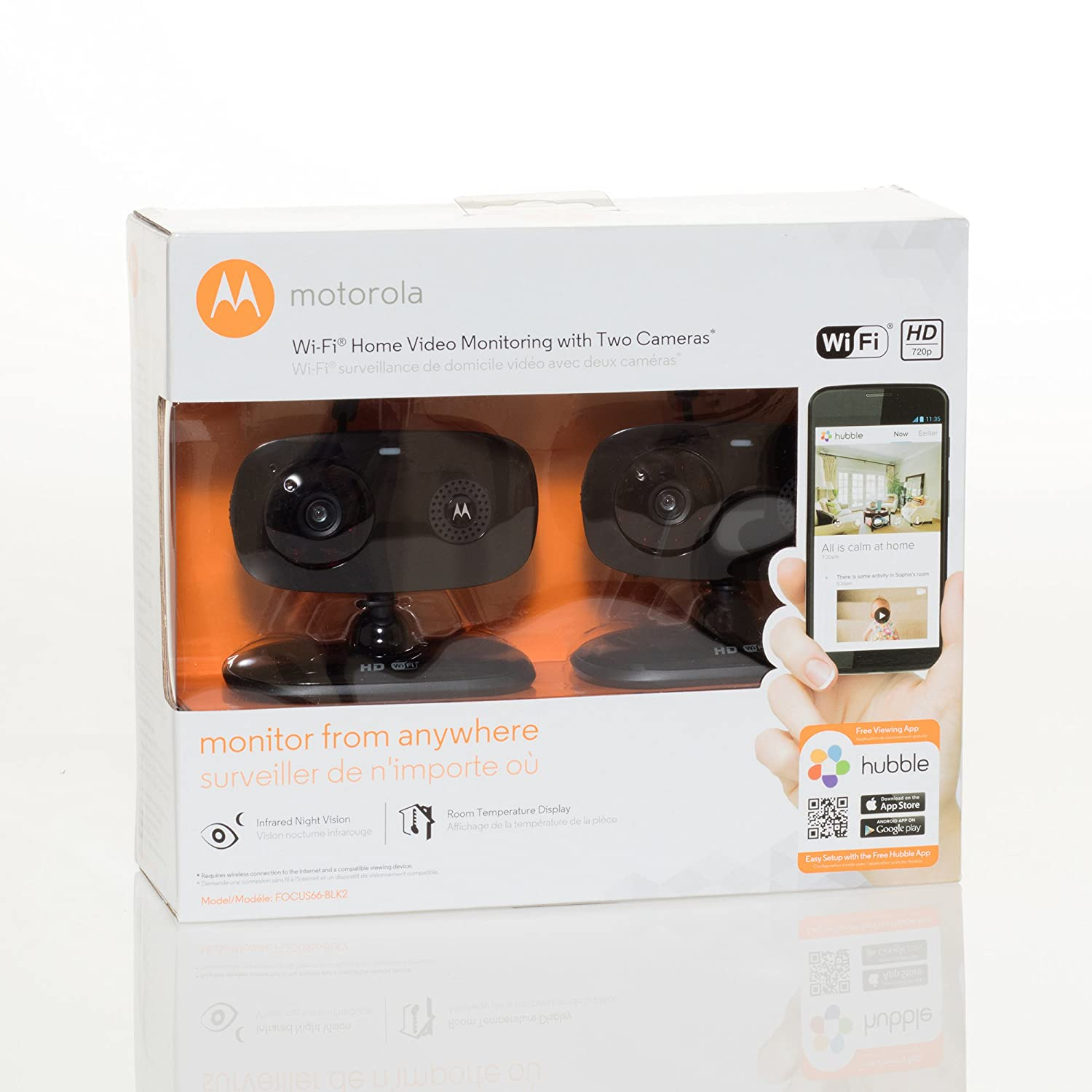 Amazon customer reviews motorola focus66 wi fi hd - Amazon Com Motorola Focus66 Blk2 Wi Fi Hd Home Monitor Camera 2 Pack Black Camera Photo
