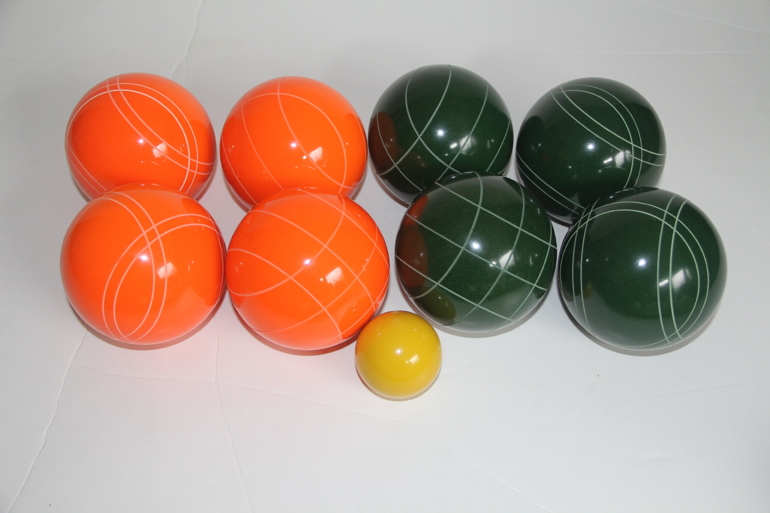 Premium Quality Epco Tournament Set - 110mm Orange and Green Bocce Balls - No BAG Option [Toy]