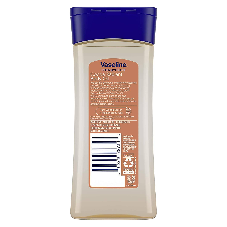 Vaseline Body Gel Oil Cocoa Radiant 6 8 oz (Pack of 3)