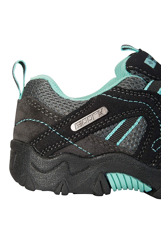 Zapatillas Impermeables Zapatillas de Verano con Empeine Gris 33 Mountain Warehouse Zapatillas Stampede para ni/ños Zapatillas de Correr con Suela de Gran Agarre