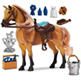 Sunny Days Entertainment Blue Ribbon Champions Deluxe Toy Horses: Quarter Horse with Articulation, Sound & Grooming Accessories