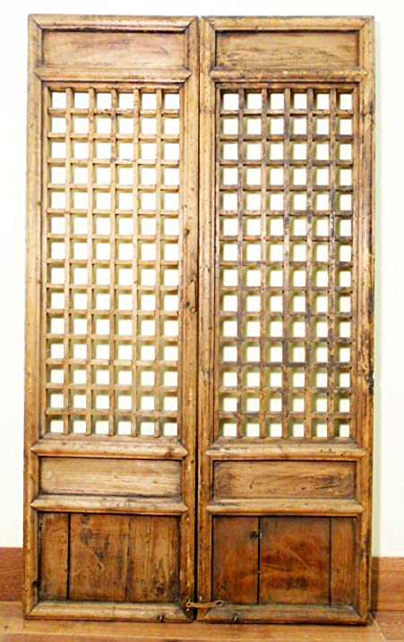 Antique Chinese Screen Panels (5126), (Temple Doors), Cunninghamia Wood, - Amazon.com: Antique Chinese Screen Panels (5126), (Temple Doors