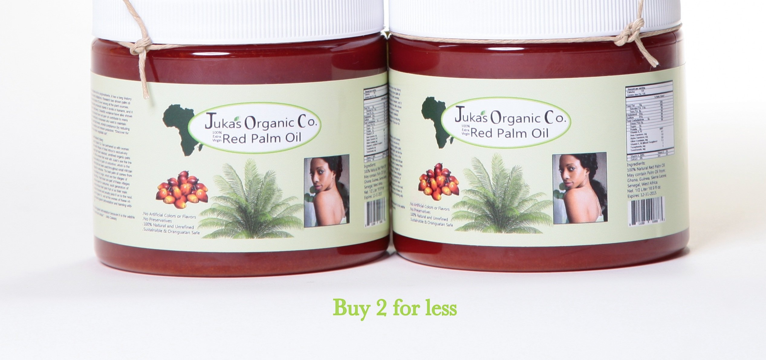 Juka's Red Palm Oil (100% Organic & Natural From West Africa)