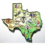 Texas the Lonestar State Artwood Jumbo Fridge Magnet