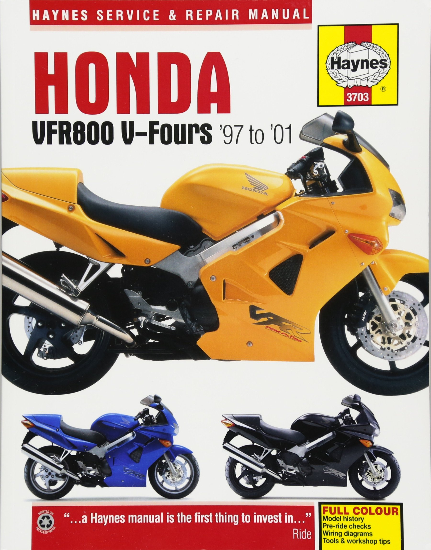 Honda VFR800 V-Fours '97-'01 (Haynes Service & Repair Manual): Editors of  Haynes Manuals: 9781785213083: Amazon.com: Books