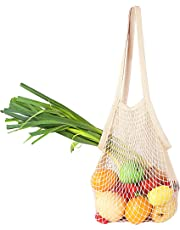 Bailuoni Net String Shopping Bag Long Handle Portable/Washable/Reusable Net Shopping Tote String Bag Organizer For Grocery Shopping, Beach, Toys, Storage, Fruit, Vegetable and Market - Sturdy & Wear …