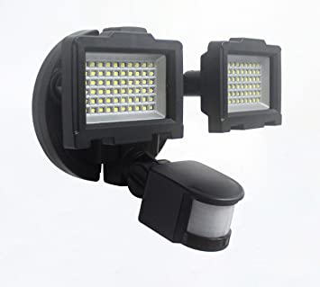 Naturaleza Power 120 Led Dual Lámpara Luz De Seguridad Solar Para Exteriores Con Sensor De Movimiento Negro 23401 0 Volts Home Improvement
