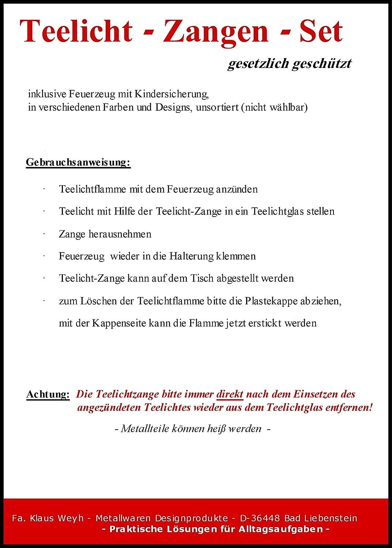 Amazon.de: Neuheit!! Teelichtzange / Teelichtgreifer mit ...