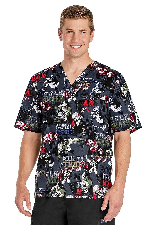 a5aade7c3b5 Amazon.com: Cherokee Avengers Men's V Neck Scrub Top: Clothing