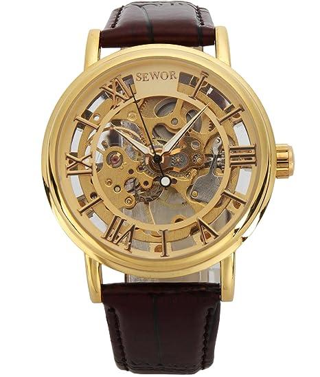 Reloj esqueletizado estilo vintaje para hombre. Diseño único y opción de colores.
