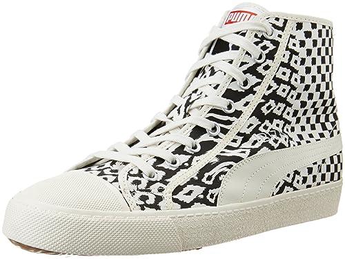 97a3cc8a5023 Puma Men s Ibiza Mid Animal Unisex Egret White Sneakers - 7.5 UK India (41