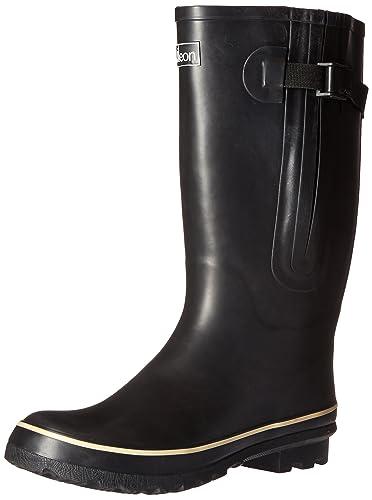 Amazon.com | Jileon Extra Wide Calf Rubber Rain Boots for Women ...
